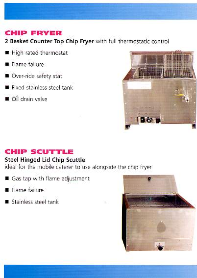 Chip Fryer & Scuttle for Mbl LPG Unit Gas&Elec